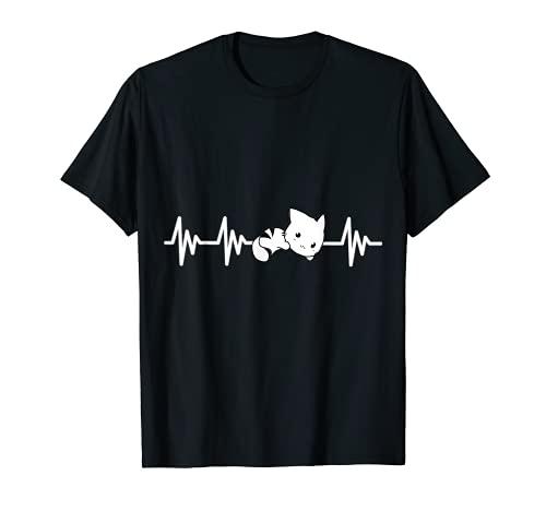 ハートビート猫子猫子猫子猫男性女性の子供 Tシャツ