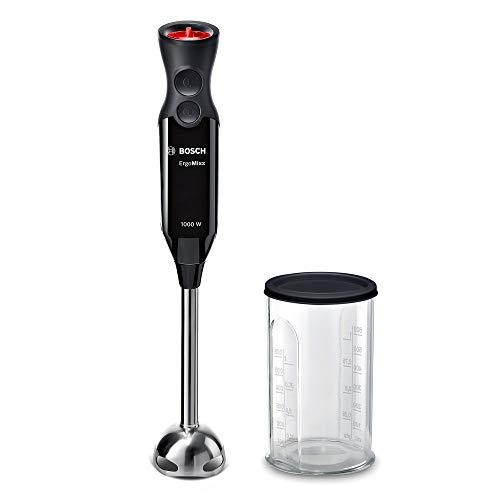 Bosch ErgoMixx Style Hand Blender - Frullatore a Immersione Portatile con Motore da 1000 W, 12 Impostazioni di Velocità, Lama a 4 Ali, Bicchiere Graduato, Piede Mixer in Acciaio Inox