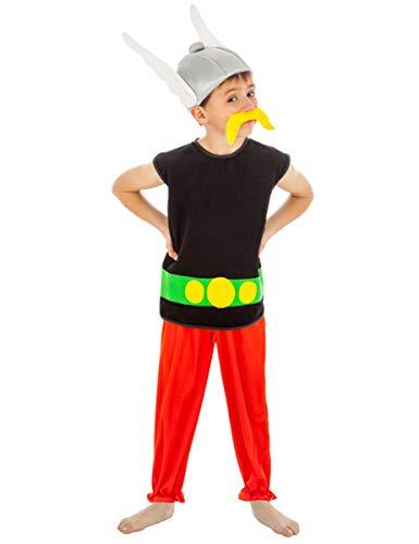 COOLMP Déguisement Astérix Enfant - Taille 9 à 10 Ans (140 cm) - Déguisement pour Enfant, garçon et Fille, Anniversaire, Carnaval