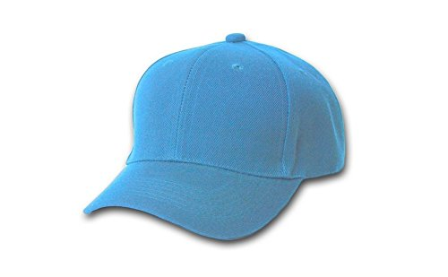 Dealzip Inc Valuable Baseball Caps, Best Solid Color Men Women Baseball Cap Hat Adjustable Closure - Light Blue