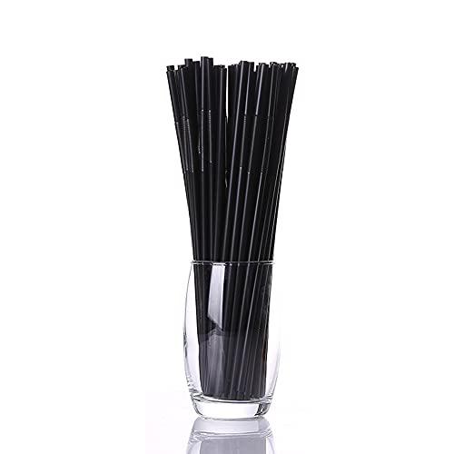 Warmdeco Pajitas de cóctel de 100 Uds, Pajita Flexible Flexible de plástico Negro para cumpleaños, Bodas, Suministros Decorativos para Fiestas y Eventos