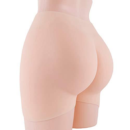 Jolie Silicona Completa Caderas Butt Enhancer Body Shaper 2cm Grosor Desnudo Blanco Ropa Interior para Mujeres Drag Queen,Whitenude