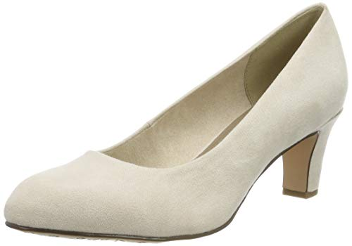 Tamaris Damen 1-1-22418-23 418 Pumps, Beige (IVORY 418), 39 EU