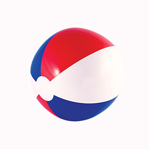 Windy City Novelties (12 Pack) Inflatable Beach Balls Patriotic Theme 16 inch Bulk