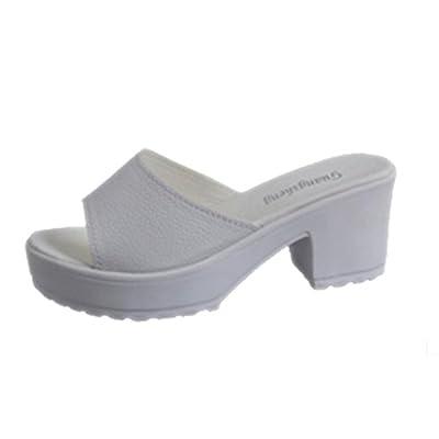 Tenworld Fashion High Heeled Platform Soft Ladies Wedges Flip Flop Sandals