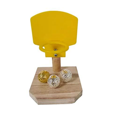 ybvyd Papageienspielzeug, Papageien-Puzzle-Training, Intelligenz-Entwicklungsspielzeug, Mini-Korb, Vogelschießen, Basketball-Ständer, Spielzeug-Set