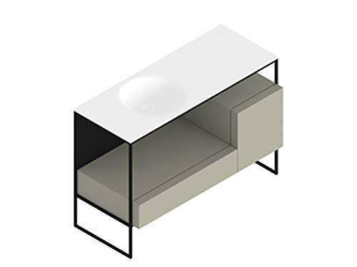 Best Buy! Zucchetti Kos Morphing unit with sink 8MP303NETO-Dove Drawers