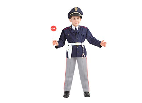 pega sus 0044 - Costume da Poliziotto Baby Varie Taglie (3° 3-4 Anni)