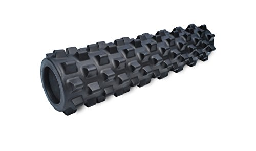 RumbleRoller - Mid Size 22 Inches - Black - Extra Firm - Textured Muscle Foam...