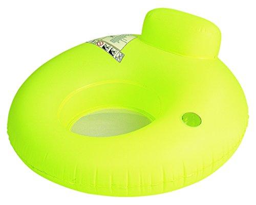 Jilong Water Sofa 122x122 cm Poolsessel mit Rückenlehne & Getränkehalter Schwimmsessel Pool Lounge Wassersofa Wassersessel Luftmatratze Badeinsel (sortiert - Farbauswahl nicht möglich)