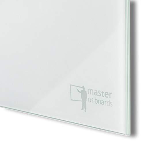 Premium Glas-Magnettafel beschreibbar   TÜV-geprüft   Whiteboard rahmenlos mit Schwebe-Effekt   Pinnwand magnetisch aus Sicherheitsglas   7 Größen (60 x 90 cm) - 3
