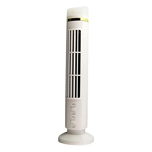 Enjoyyouselves Pequeño ventilador portátil de escritorio sin aspas con 3 velocidades, ventilador USB recargable, ventilador de torre para viajes en casa o en la oficina