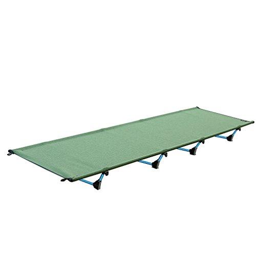 Outad Lit de camp, léger pliant pour camping, haute capacité 200kg, vert militaire