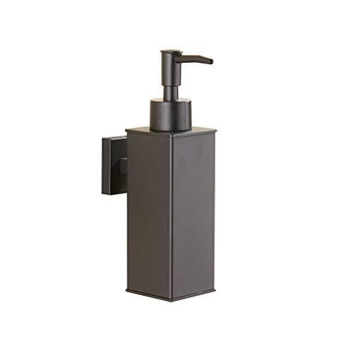 Dispensadores de jabón cuadrado negro botella de jabón de acero inoxidable montado en la pared baño inodoro cocina detergente dispensador de jabón dispensador manual de loción y jabón (color: negro)