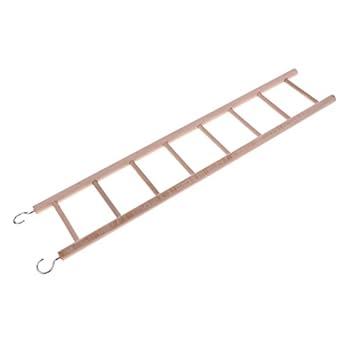 HomeDecTime Perroquet en Bois Rat Jouet Pont échelle Hamster Oiseaux Cage Accessoires - 8-escalier
