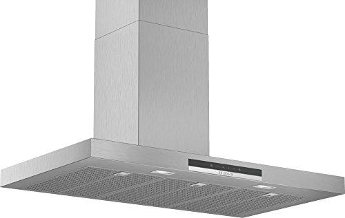 Bosch DWB97IM50 Serie 4 Wandesse / B / 90 cm / Edelstahl / wahlweise Umluft- oder Abluftbetrieb / TouchSelect Bedienung / Silence / Intensivstufe / Metallfettfilter (spülmaschinengeeignet)