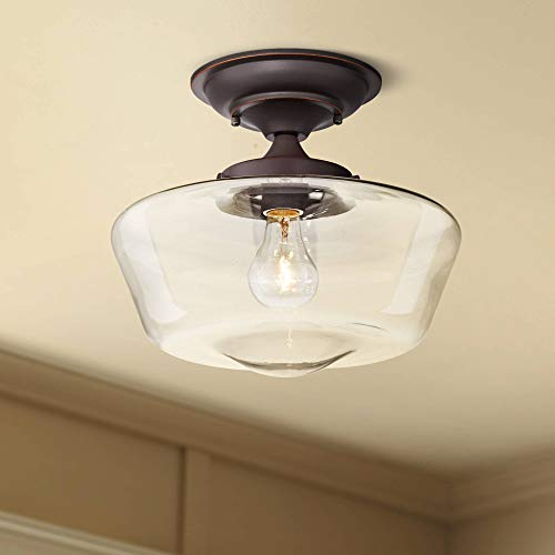 Schoolhouse Floating Modern Ceiling Light Semi Flush Mount Fixture Oil Rubbed Bronze 12