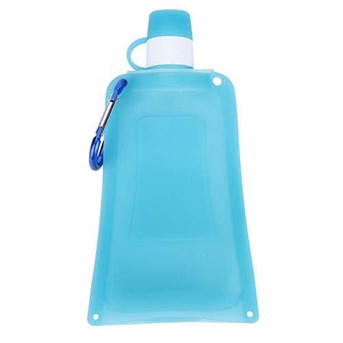 Zerodis Botellas de Agua de Silicona Plegables portátiles de 500 ml, Bolsa...