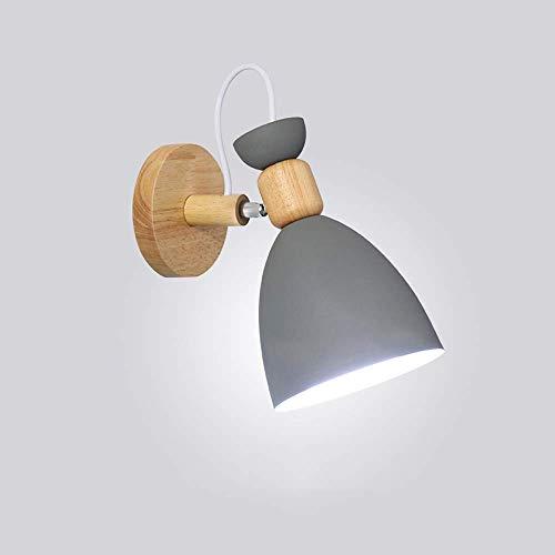 Applique Nordique Solide Bois Chambre Mur Lampe Moderne Minimaliste Fond Lampe Murale Salon Créative Allée Lampes De Chevet (K)