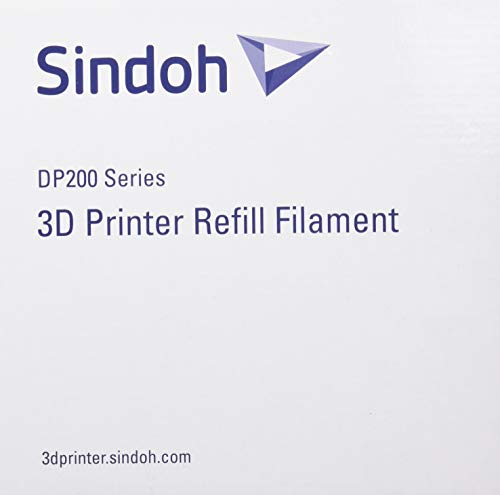 Sindoh 3DWOX Refill Filament ABS Blue (Compatible with DP200, 3DWOX 1, 1X, 2X) , Spool , 1.75 millimeters Diameter, Model Number: 3DP200ABL-R