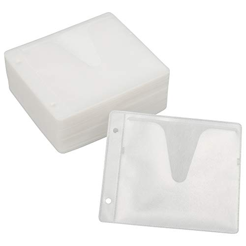 OHM DVD&CD 不織布スリーブ 両面収納 100枚 ホワイト OA-RC2B100-W