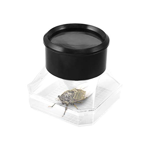 UKCOCO 2pcs ,Bug Viewer - Microscope Box Insect Magnifier Insect Case Bug Container Bug Catcher Kit for Kids(Assorted Color)