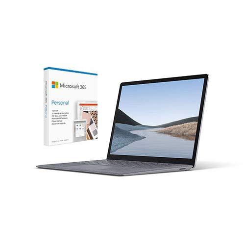 Microsoft Surface Laptop 3 15' AMD Ryzen 7 16GB RAM 512GB SSD Platinum Metal + Microsoft 365 Personal 1 Year Subscription for 1 User