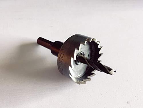 JKCKHA 2pcs HSS Metal Drill Bits 12/13/14/15/16/17/18/18.5/19/19.5/20/20.5 mm Wood Thin Metal Sheet Cutting Tool Drill (Hole Diameter : 13mm, Shank Shape : Round)