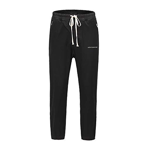 E6PHOMME® EP-29 Zipper Zip Track Pants Streetwear Hose Jogger (L)