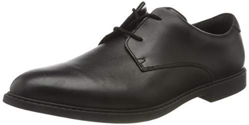 Clarks Jungen Scala Loop Y Derbys, Schwarz (Black Leather),36 EU