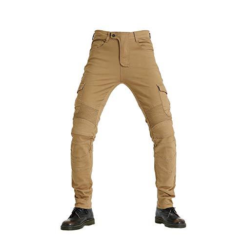 Mars Jun Pantalones de Motociclista Hombres Forro Protector Moto de la Motocicleta Trabajo Pantalones Jeans Cargo Blindada Protección Aramid
