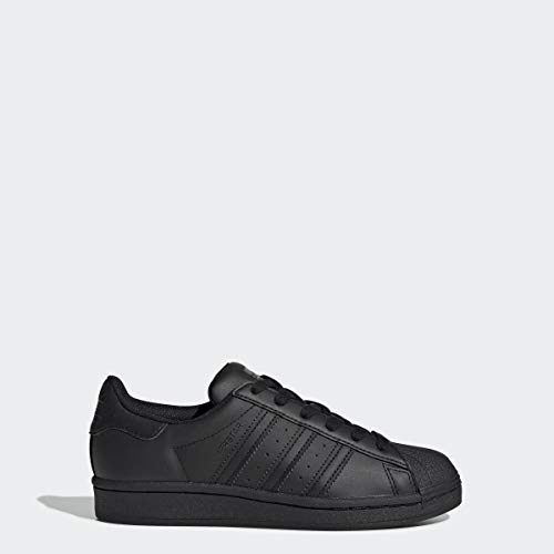 adidas Originals Superstars Running Shoe, Black, 6 M US Big Kid