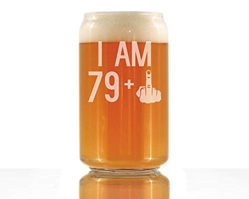 I Am 79 + 1 Middle Finger Pint Glass