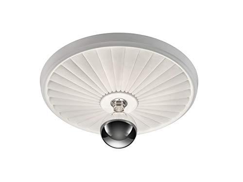 Beschilderbare rozetten led-plafondlampen van wit gips met ornament/stralen design klein/groot