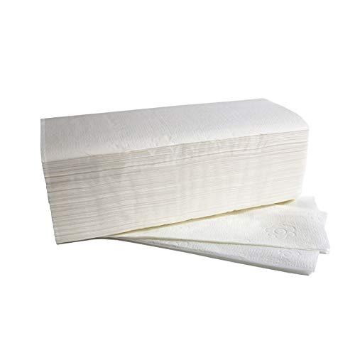 Fripa 4042101 Papiertücher Comfort: 2-lagig, 20x150 Tücher, 100{3a803d74a7ab60bdaba52f8b83cb622cd38863f190daba666a3dbd8c662a21de} Zellstoff, V-Falz, reißfest, hochweiß