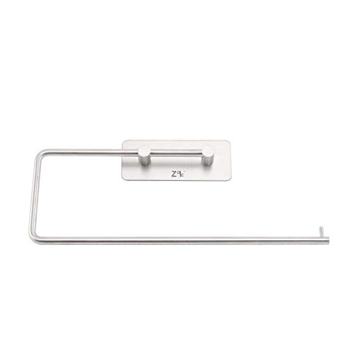 ZOIC Adhesive 304 Stainless Steel Toilet Paper Holder Hooks Tissue Storage Hand Towel Roll Hanger Wall Mount Brushed Dispenser Tissue Roll (12 Inches X 4.33 Inches)