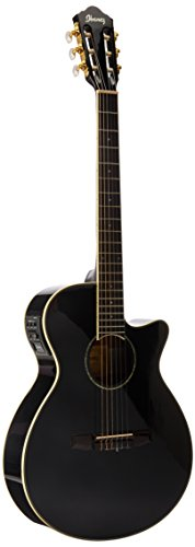 Ibanez AEG10NII Nylon String Cutaway Acoustic-Electric Guitar Black