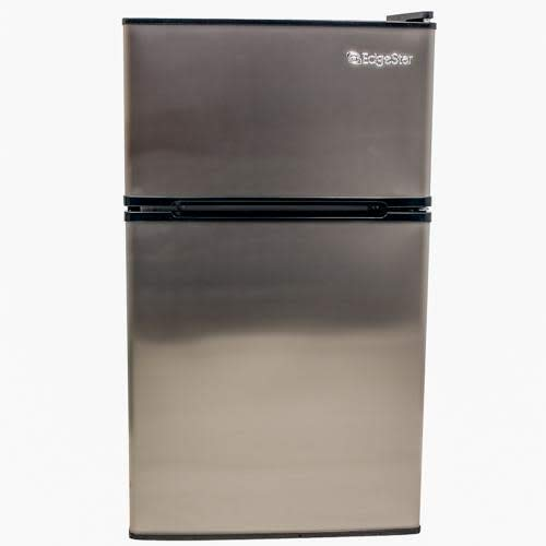 EdgeStar CRF321SS 3.1 Cu. Ft. Dorm Sized Energy Star Compact Fridge/Freezer in stainless steel