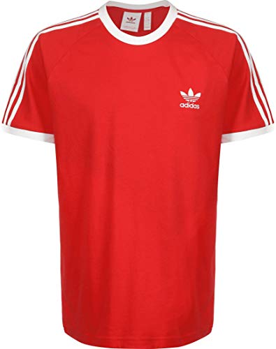 Adidas 3 Stripes T-Shirt (L, red/White)