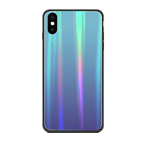 Caler Hülle Kompatibel mit Huawei Honor View 20 Hülle 9H Gehärtetem Marmor Glas Rückseite mit TPU Rahmen Schutzhülle Ultra Dünn Handyhülle Rahmen Hüllen [Stoßfest] Slim Kratzfest Shell Case