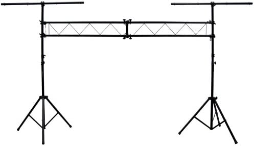 Mr Dj 10 Feet Portable DJ Lighting Truss Stand Trussing System with Dual Tripod Stand and T product image
