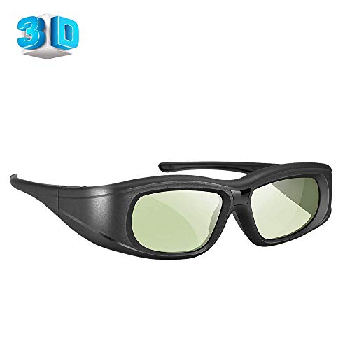 Elikliv 3D Glasses Rechargeable Blue Tooth 3D Active Shutter Glasses Compatible with Epson Sony Blue Tooth 3D Projector/Sony Panasonic Samsung 3D Active TV