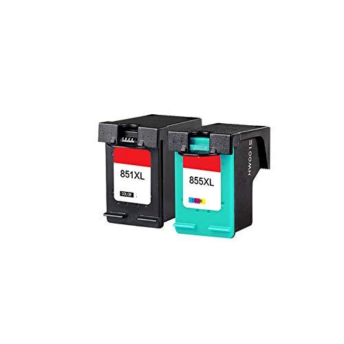 GYBN Color inktcartridge navullen, voor HP 851 inktcartridge, voor HP 855 printer, voor HP Deskjet D4168 D5168 8038 c4188 2578 Officejet6318 9100 Serie hoge capaciteit, size, 2-set