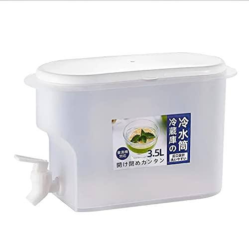 Porcyco Hervidor de agua fría de 3,5 l, dispensador de bebidas frías, cubo con grifo de presión, peso ligero, resistente a 20 ~ 120 grados C, para bebidas caseras, té, zumo, cervezas, soda