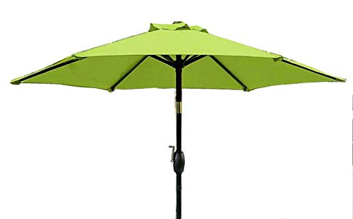 "BELLRINO DECOR 7.5 ft 6 Ribs Replacement"" STRONG & THICK"" Patio Umbrella Canopy Cover (Canopy Only) - SAGE GREEN"