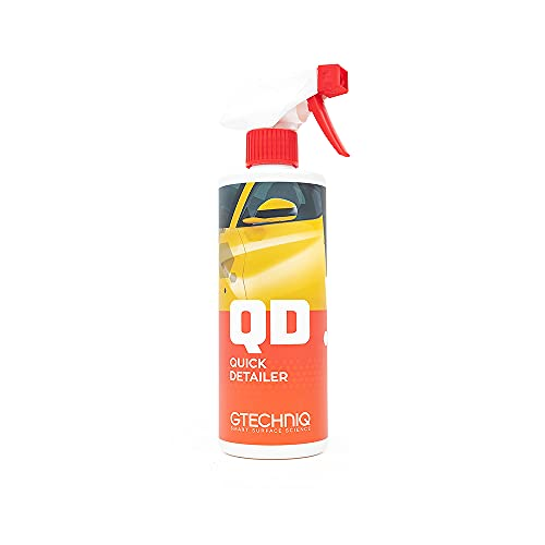 Gtechniq - Quick Detailer - Adds Gloss, Slickness, and Durability to Your Car Paintwork; Easy Spray-On Wipe Off Formula; Works With All Gtechniq Products; Trim and Glass Safe (500 milliliters)