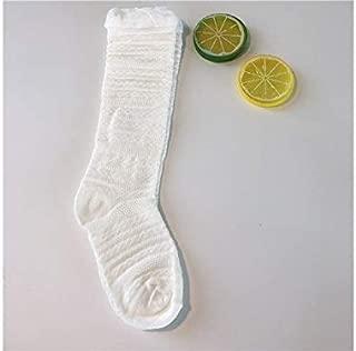 Lovely Socks Girls Children Cotton Socks Kids Summer Lace Mid Tube Socks (Pink) Newborn Sock (Color : White)