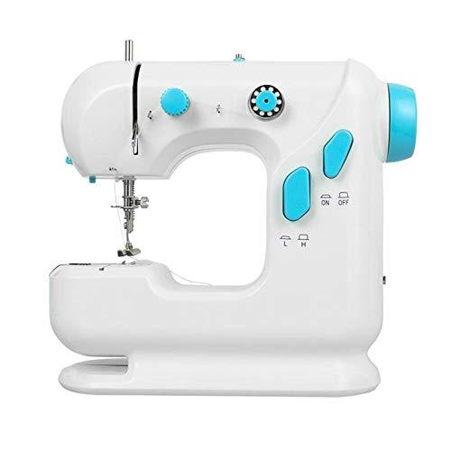 AGKupel Elektrische naaimachine Huishoudelijke apparaten Mini naaigereedschap Elektronische naaimachine Multifunctioneel Dubbele draad naaimachine Voor doe-het-zelvers voor beginners