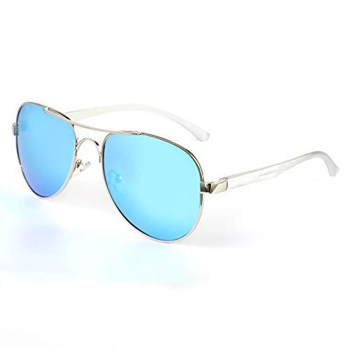 YIYUN Gafas De Sol Polarizado Gafas De Sol para Señores Anti-UV Conductor Gafas De Sol Aviador Gafas De Sol,A