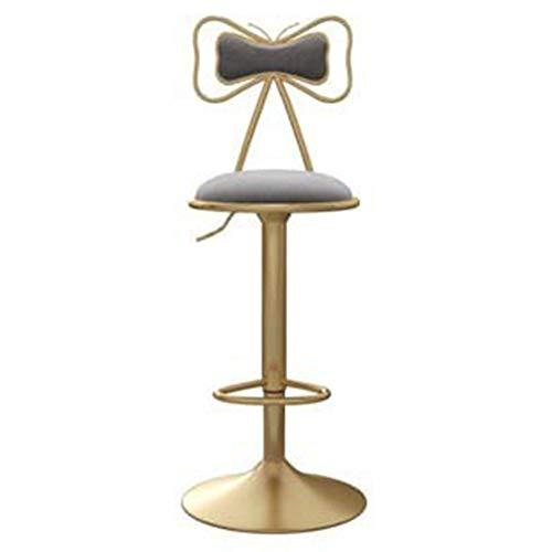 YT Taburete de Bar de Lujo, Silla Alta de Elevación Ajustable en Altura con Respaldo y Reposapiés, Taburete Giratorio Ajustable para Bares/Mesas de Comedor/Salas de Estar/Cafés/Mostradores,A6
